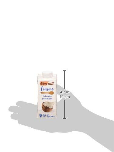 ECOMIL Cuisine Coco, Crema de Coco Para Cocinar, 200 Mililitros