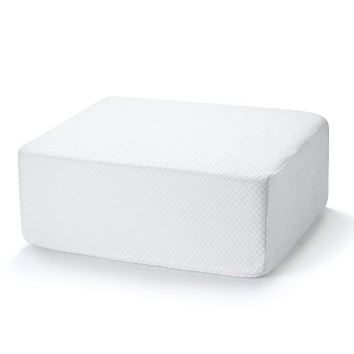 Cube Pillow, Ergonomic Memory Foam Pillow Cube Side Sleepers Neck Support Pillow Soft Pad Cushion Thicker and Firmer Pillow for Vertebral Protection Pillow (White C)