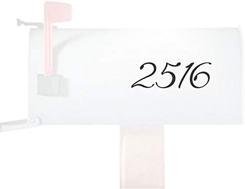 Personalized List price Decorative Numbers Super special price Mailbox House Decal Sticker Numb