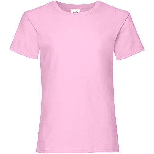 Fruit of the Loom Girls, T-shirt da donna rosa chiaro 12-13 Anni
