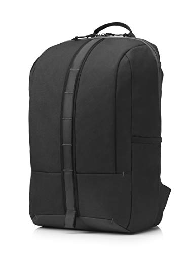 HP Commuter (5EE91AA) Rucksack (gepolstertes Laptopfach bis 15,6 Zoll, Fronttasche, Air-Mesh Schultergurte, Reflektoren) schwarz