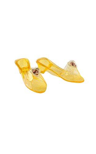Princesas Disney - Zapatos de Bella para niña, color amarillo - Talla 4-6 años (Rubies 35356)