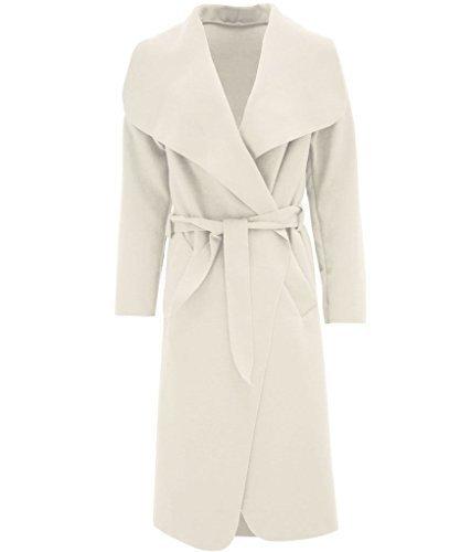 Haute Para Diva 's Mujer Celebrity Inspired cascada Draped Belted chaqueta de...