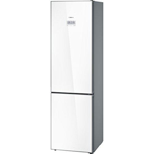 Bosch KGF39SW45 Serie 8 Freistehende Kühl-Gefrier-Kombination / A+++ / 203 cm / 180 kWh/Jahr / weiß / 285 L Kühlteil / 110 L Gefrierteil / No Frost / VitaFresh pro / Home Connect fähig