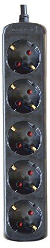 Silver Electronics 9675 Base eléctrica 5 salidas sin interruptor, Negro