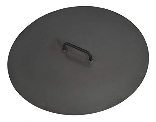 JS GartenDeko Deckel für Feuerschalen Ø 101 cm Deckel für Feuerstelle aus Stahl Abdeckung für Feuerschalen CookKing