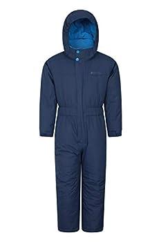 Mountain Warehouse Cloud All in 1 Kids Snowsuit - Waterproof Rainsuit Navy 5-6 Years