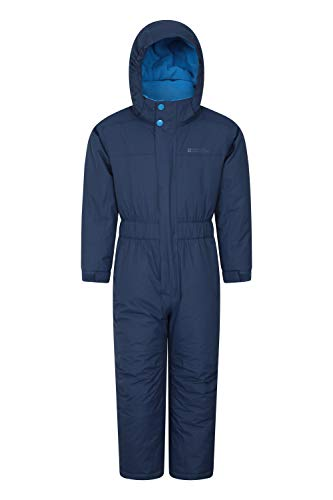 Mountain Warehouse Cloud Kids Snowsuit - Waterproof, Adjustable, One Piece Winter Jumpsuit with...