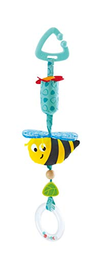 Hape E0022 Bumblebee Pram Clip-On Rattle Stroller and Pushchair Baby Toy – Suitable for Newborns, Turquoise