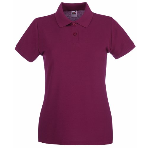 Fruit of the Loom Premium Polo Lady-Fit - Farbe: Burgundy - Größe: XL