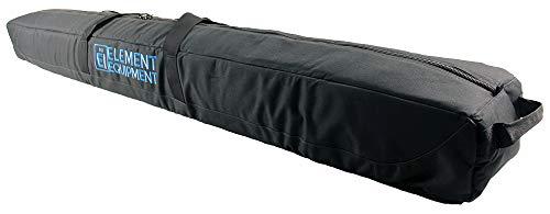 Element Equipment Deluxe Padded Ski Bag Single - Premium High End Travel Bag Black/Blue 190