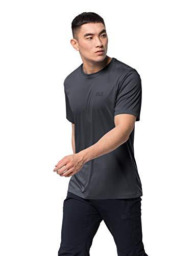 Jack Wolfskin Herren TECH T M schnelltrocknendes T-Shirt, ebony, L