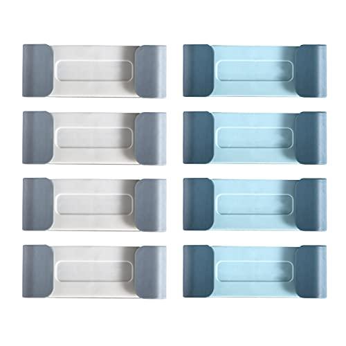 Fyfjur Clips de Cable, ganchos para cables de enchufe, Pinzas organizadoras de cables, clips para cables de pared, organizador para cables de pared sin perforación, organizador con adhesivo