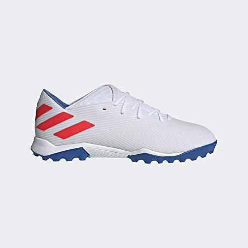 Adidas Nemeziz Messi 19.3 TF, Botas de fútbol Hombre, Multicolor (Ftwbla/Rojsol/Fooblu 000), 48 EU
