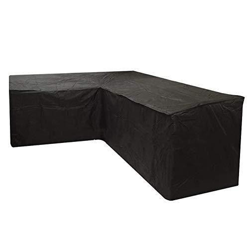 LIPING-OM Fundas para Conjuntos De Muebles Jardin Funda Protectora Sofá De La Esquina Forma De L Exterior Impermeable Anti-UV (300 * 300 * 98cm)