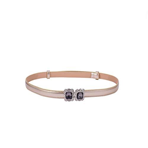 Yue668 - Cinturón elástico para mujer, correa de piel con hebilla, 92 x 1,5 cm
