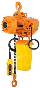 discount Mophorn 0.5 Ton Electric Chain Hoist, Single Phase wholesale 1100LBS 10ft popular Lift Height with Electric Hook,Mount G80 Chain Hoist,Double Chain with Pendant Control 110V for Logistics,Factories and Transportation sale