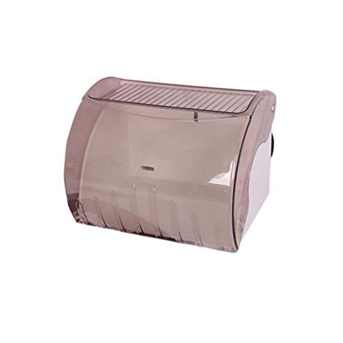 TOPBATHY Wandhalterung Papierhandtuchhalter Rechteck Rolle Papierhalter Wand Taschentuchhalter Toilettenpapier Rollenhalter Graue Schraube Typ