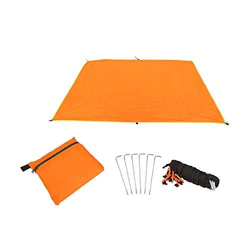 Warooma 1,8 m x 2,2 m Wasserdichte leichte Hängematte Regenfliegenzelt Sonnensegel Sonnenschutz für Camping, Rucksackreisen, Picknick