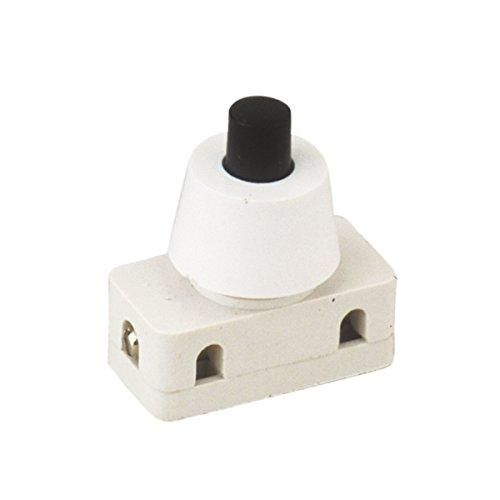 Electrowifi - Interruttore unipolare a pulsante, 2A 250V, Collegamento Cavo a vite ON-OFF ElectroDH 11.172.i