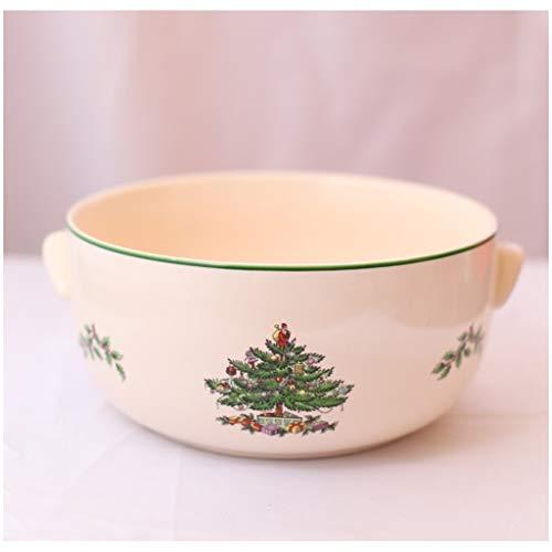 Ensaladera Cuencos Tazones de postre Árbol Navidad Soup Bowl, Europea Alta Temperatura...