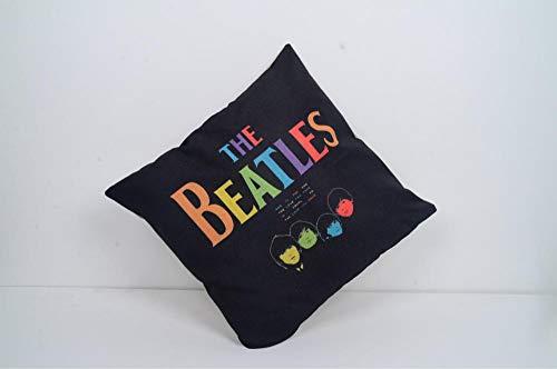 circle-xp Throw Pillow British Nostalgia Retro btl Beatles Synthetic Linen Black and White Waist Pillow Sofa Cushion Pillowcase