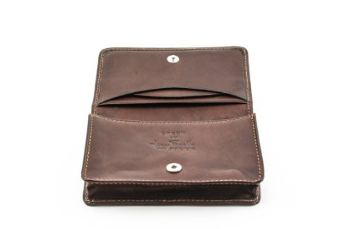Slim Business Card Case Holder Wallet Credit Card Slot Pockets Italian Leather