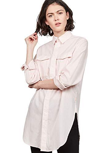 G-STAR RAW Damen H-A 2Pkt Elongated Shirt Wmn L/S Hemd, Mehrfarbig (Lt Mauve/White 9042), Medium