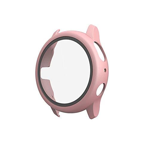 Bcyhls For Samsung Galaxy Watch Active 2 40mm PC Funda Protectora con película de Vidrio Templado smartwatch Protective (Color : Rose Gold)