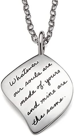 BB Becker Soulmates 925 Sterling Silver Pendant Necklace Jewelry Romantic Gifts for Her Wife Anniversary Girlfriend Birthday Gifts for Women