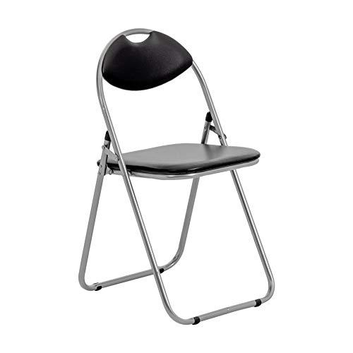 Chaise pliante rembourrée - pour le bureau - noir