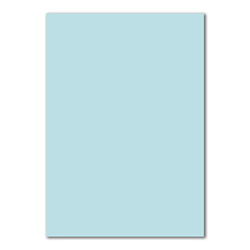 50 DIN A4 Papierbogen Planobogen -Hellblau - 160 g/m² - 21 x 29,7 cm - Bastelbogen Ton-Papier Fotokarton Bastel-Papier Ton-Karton - FarbenFroh®