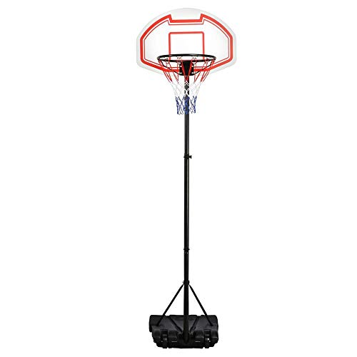 Yaheetech Height Adjustable Basketball Hoop System Portable Kids Indoor Outdoor Net Goal Stand 29 Inch Backboard W/Wheels