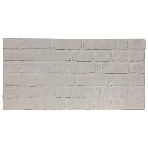 ST White (100x50cm) | Wandverkleidung in Klinkeroptik, frei gestaltbares Wandpaneel, individuelles Design für Ihre Wände