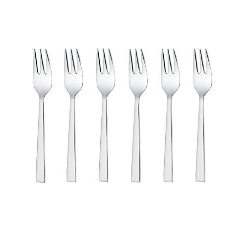 GRÄWE® 6 fourchettes à Dessert en Acier Inoxydable 18/10, série Copenhagen.