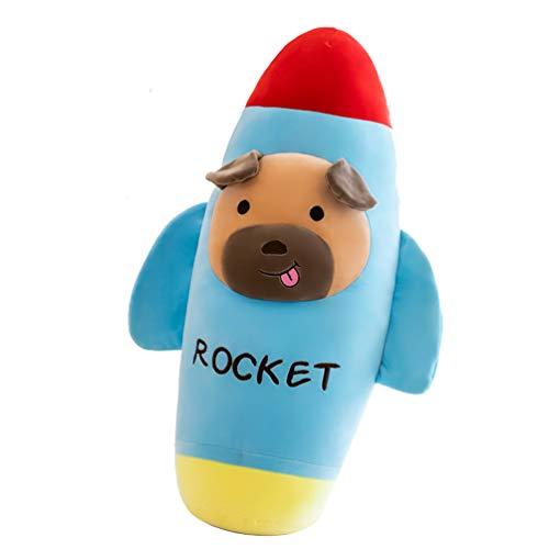 STOBOK Cohete de Dibujos Animados Almohada de Felpa Suave Almohada Almohadas Almohadas Juguete de Peluche Niños Muñecas para Dormir Juguetes