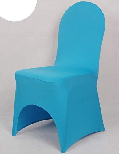 GFFGA 24 Farben Lycra Universal Stuhlbezug für Hochzeitsdekoration Spandex Stuhlbezug Bankettstühle Bogenfront offen günstigen Preis, TÜRKIS, Bogenfront offen