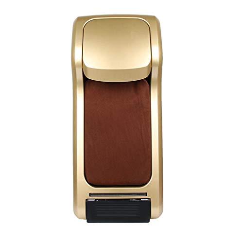 HYLK Dispensador de fundaspara Zapatos conpelículapara Zapatos Aproximadamente 600 Veces Fácil de Usar sin Electricidad Alfombra Antideslizante Máquina dispensadora deprotector automático, Dorado