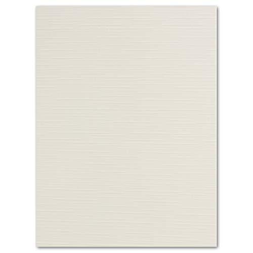 20 STÜCK Leinen- Karton DIN A4-29,7 x 21,0 cm Weiß 240 g/m² Bastel-karton Ton-karton Ton-Papier Foto-Karton