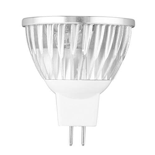 Camellia 45 Grad Abstrahlwinkel LED Birne MR16 Warm White-Spot-Licht 4W 12V Scheinwerfer Tragbare 4 LEDs Strahler für Wohnzimmer (Silber)