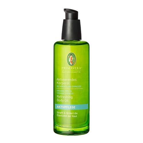 PRIMAVERA Aktivierendes Körperöl Minze Zypresse 100 ml - Naturkosmetik - straffend, glättend - vegan