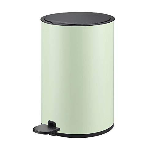 ZTKBG huishouden roestvrij staal ultradunne pedaal vuilnisemmer, 8L roestvrij staal vuilnisemmer met binnenloop, vertragend