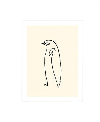 Pablo Picasso Pinguin Poster Kunstdruck Siebdruck Bild 60x50cm