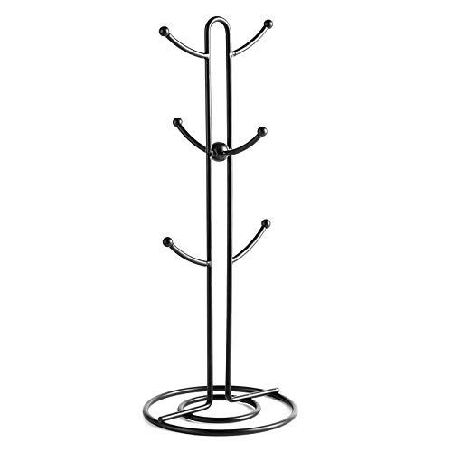 Sweese Mug Holder Vintage Metal Wire Tree Stand for Coffee Mugs Glasses and Cups 6 Mug Capacity Black