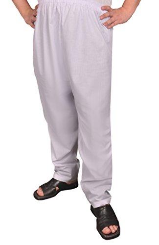 Egypt Bazar Herrenhose Sunnahose Herren - Hose arabische Islamische Männer Sunna Hose (44-46 (S), Weiß)