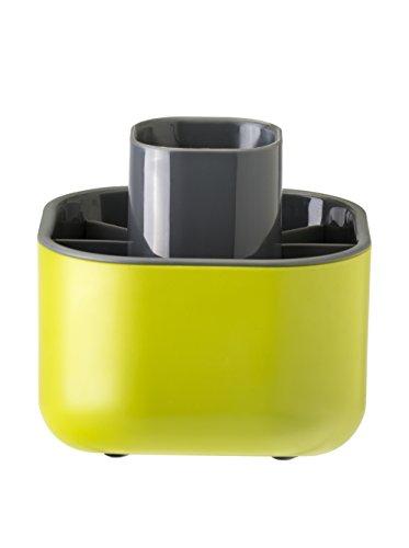 Vigar Rengo - Escurrecubiertos, plástico, color verde y gris