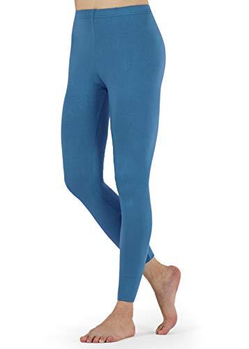 FALARY Leggings Damen Lang Knöchellang Blickdichte Leggins Yoga Tights Viele Größen Seeblau M