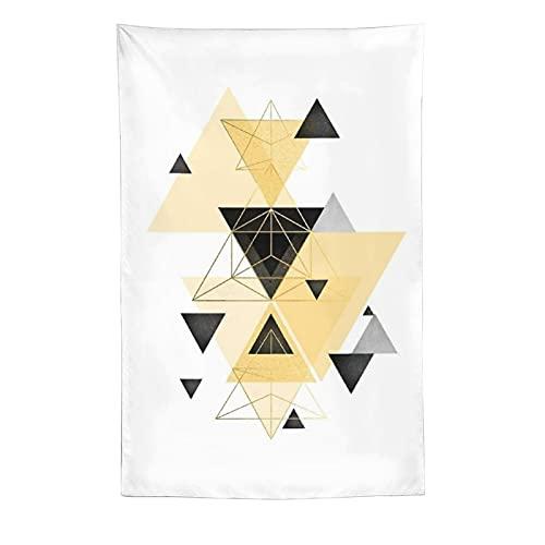 Tapiz de pared abstracto geométrico amarillo, negro, para colgar en la pared, decoración del hogar, manteles extragrandes, para dormitorio, sala de estar, dormitorio