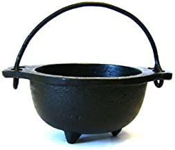 New Age Imports, Inc. 683422113284 Cast Iron Cauldron w, Ideal for smudging, Incense Burning, Ritual Purpose, Decoration, ...