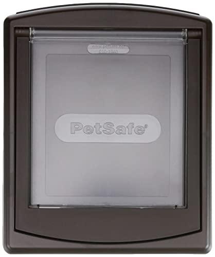 PetSafe Staywell Original- Porta per cani e gatti, Con 2 modalità di bloccaggio, Pannello di chiusura (venduto separamente), Marrone, S